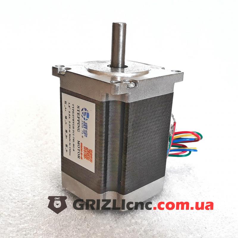 Шаговый двигатель Nema23 2.2Nm 3 Ампера 80мм | Фото: 1