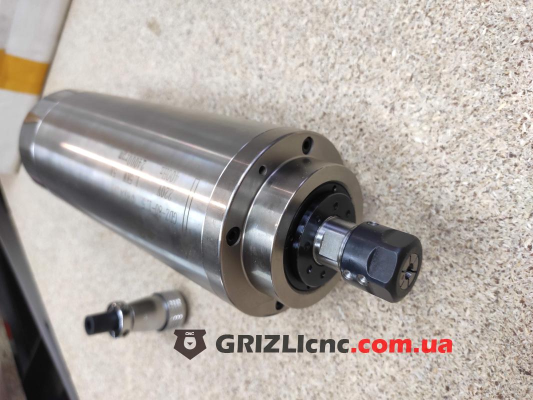 Шпиндель GDZ 1.5кВт 220В цанга ER16 водяное охлаждение (4 подшипника) | Фото: 1