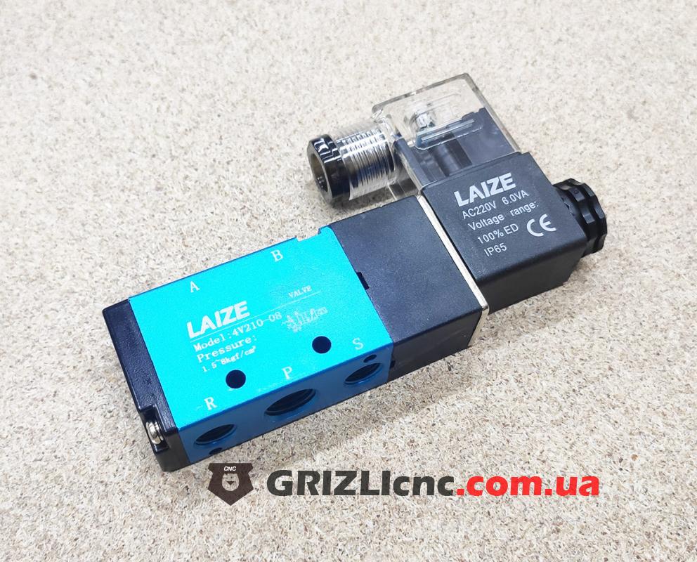 Пневматический электроклапан двухпозиционный 220В 4V210-08 | Фото: 1