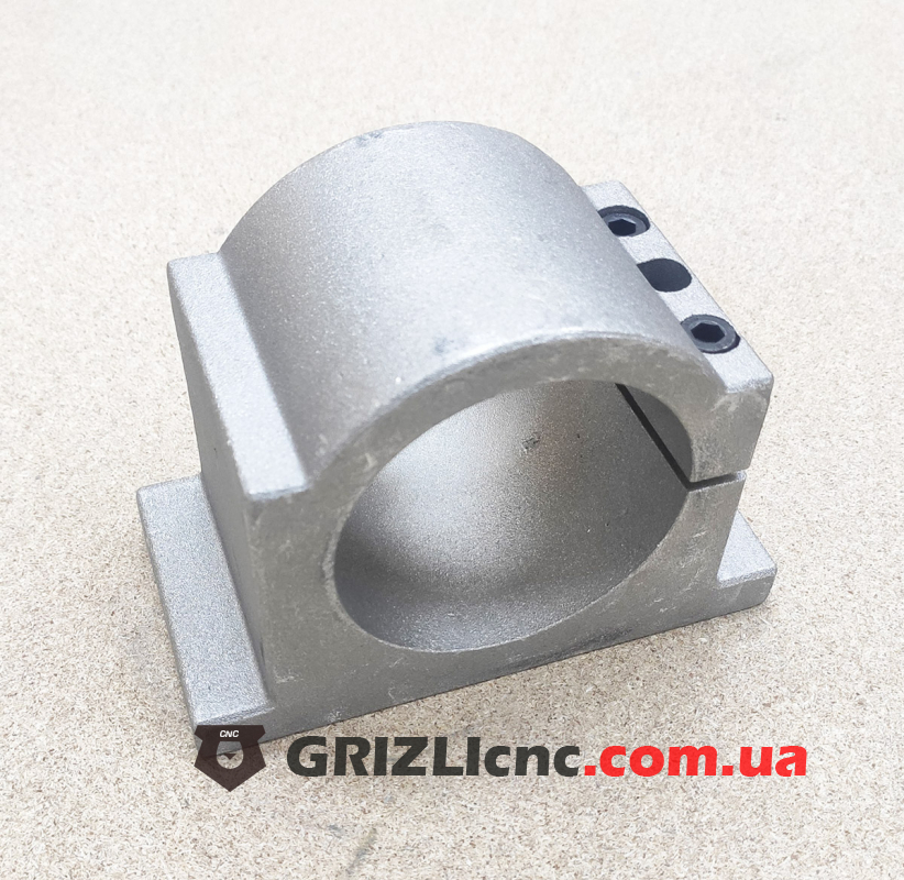 Алюминиевое крепление шпинделя D80мм - усиленное   Фото: 1