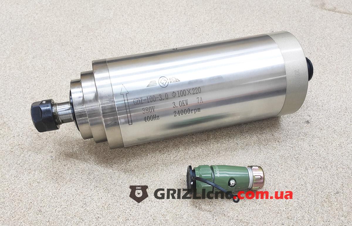 Шпиндель GDZ 3кВт 380В цанга ЕR20 водяное охлаждение (4 подшипника)   Фото: 1