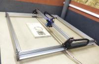 Лазерный гравер 800х800мм LED 15Вт