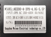 YINGSHIDA AE200 - частотный преобразователь 4Квт 380В инвертор - Фото: 4