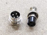 Разьем цилиндрический GX16 4pin  (мама+папа)
