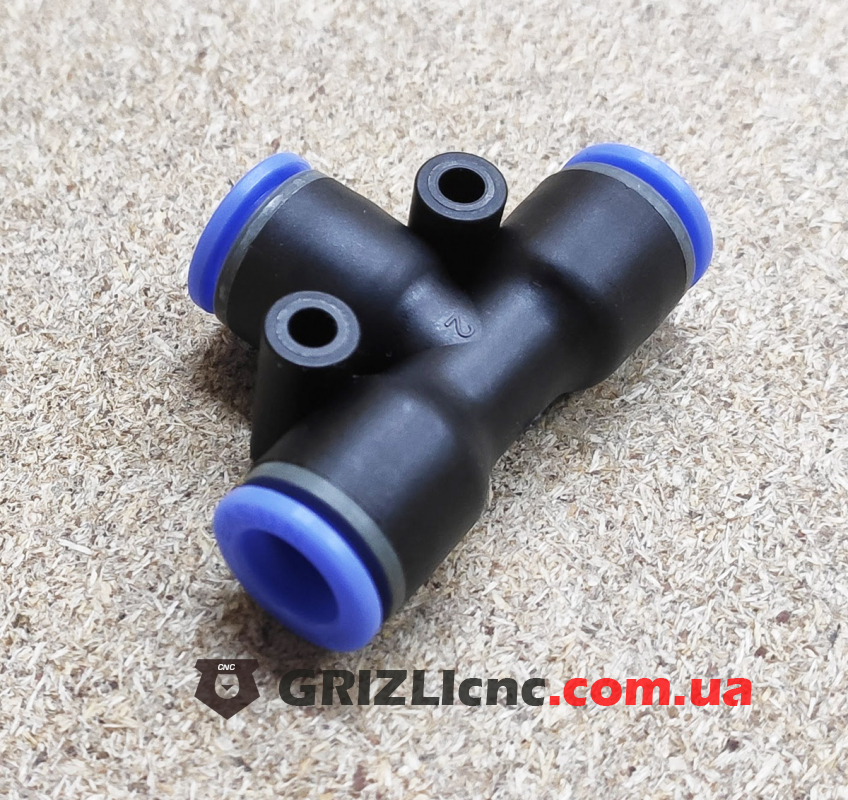 Фитинг быстросъёмн 8-8-8 мм для трубки ПВХ | Фото: 1