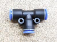 PE-08 - Фитинг быстросъёмн 8-8-8 мм для трубки ПВХ - Фото: 2
