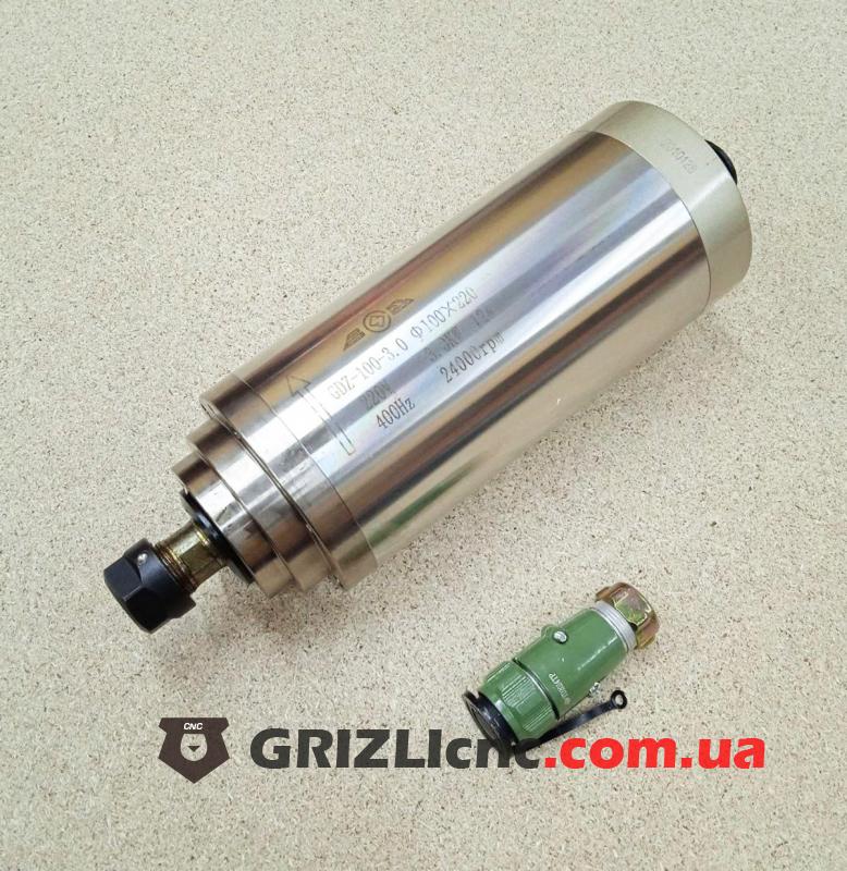 Шпиндель GDZ 3кВт 220В цанга ЕR20 водяное охлаждение (4 подшипника) | Фото: 1