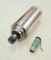 Шпиндель GDZ 3кВт 220В цанга ЕR20 водяное охлаждение (4 подшипника) - Фото: 3