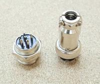Разьем цилиндрический GX16 6pin (мама+папа) - Фото: 2