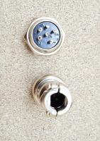Разьем цилиндрический GX16 6pin (мама+папа) - Фото: 3